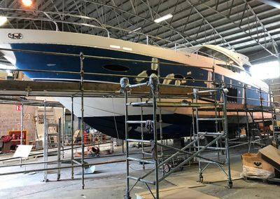 Yachts in for work
