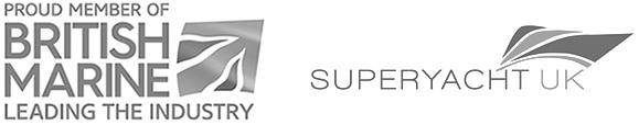 British Marine Membership Logo and Superyacht UK Logo